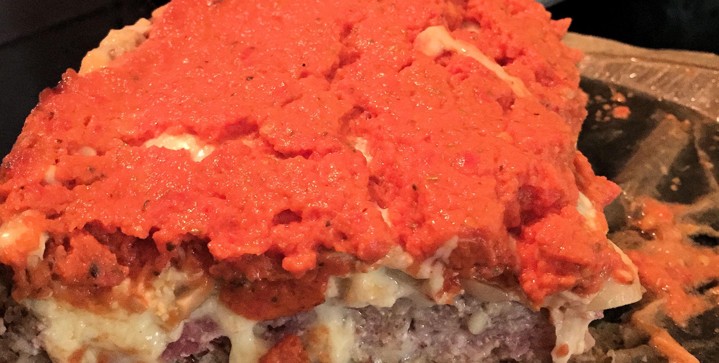 Low Carb Pizza Close up
