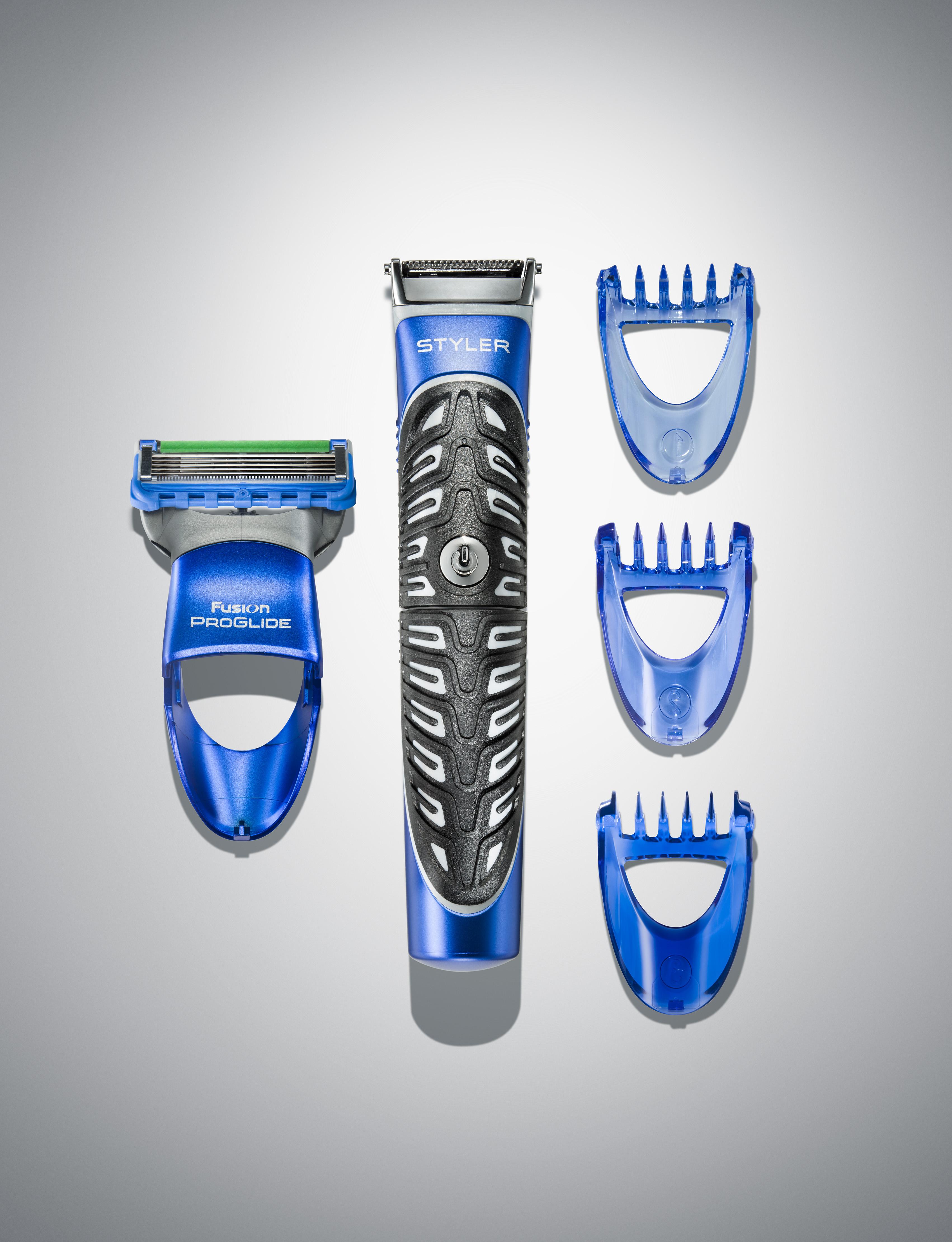 Gillette Fusion ProGlide Style_Keyvisual_Front und Aufsätze_unbegrenzte Bildrechte